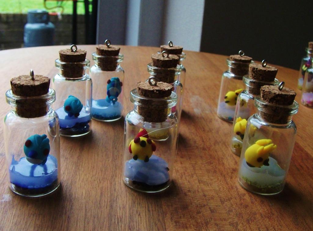 Chibi legendary bird chicks in a jar pokemon by chaobreeder16
