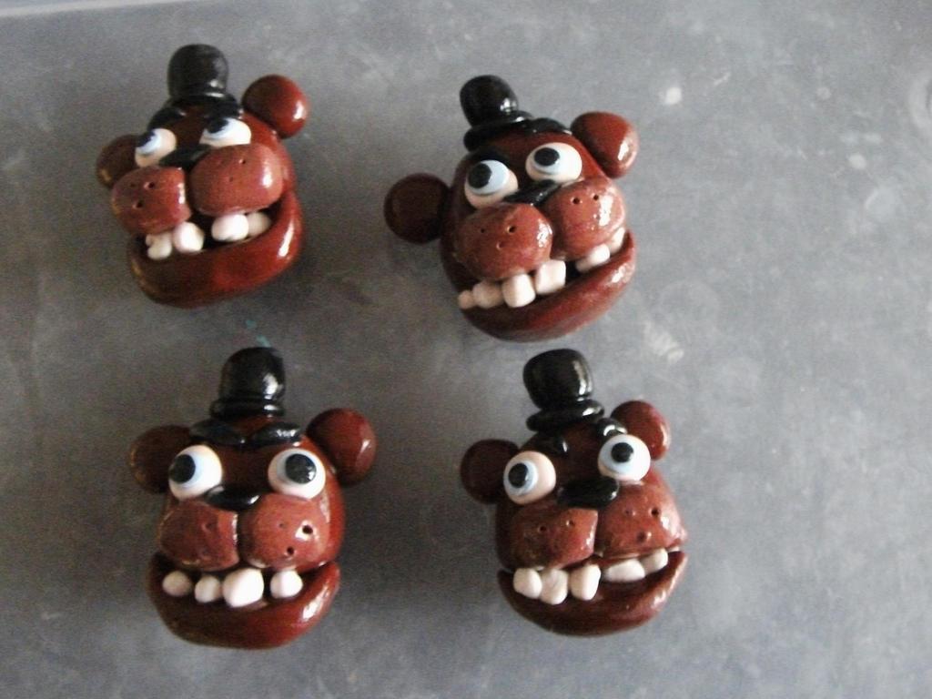 Five nights at Freddy's Freddy Fazbear badges by chaobreeder16