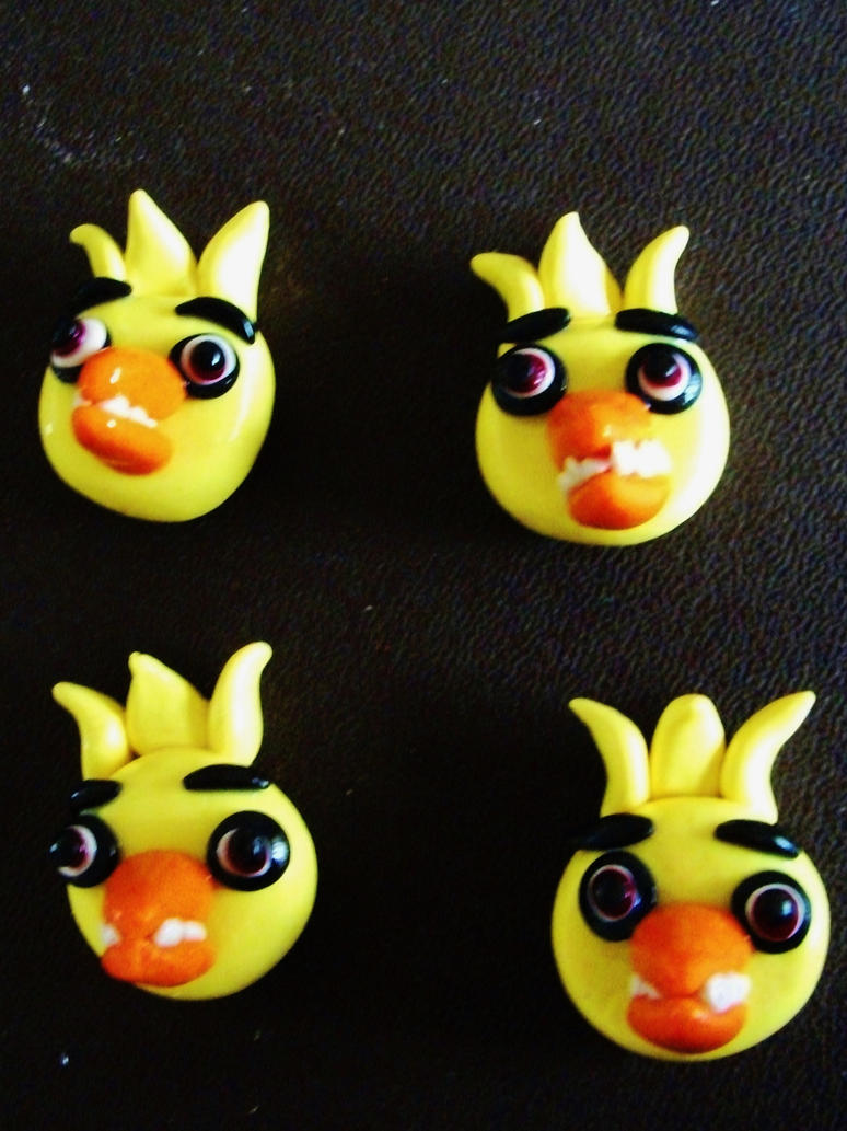 Five nights at Freddy's Chica badges by chaobreeder16