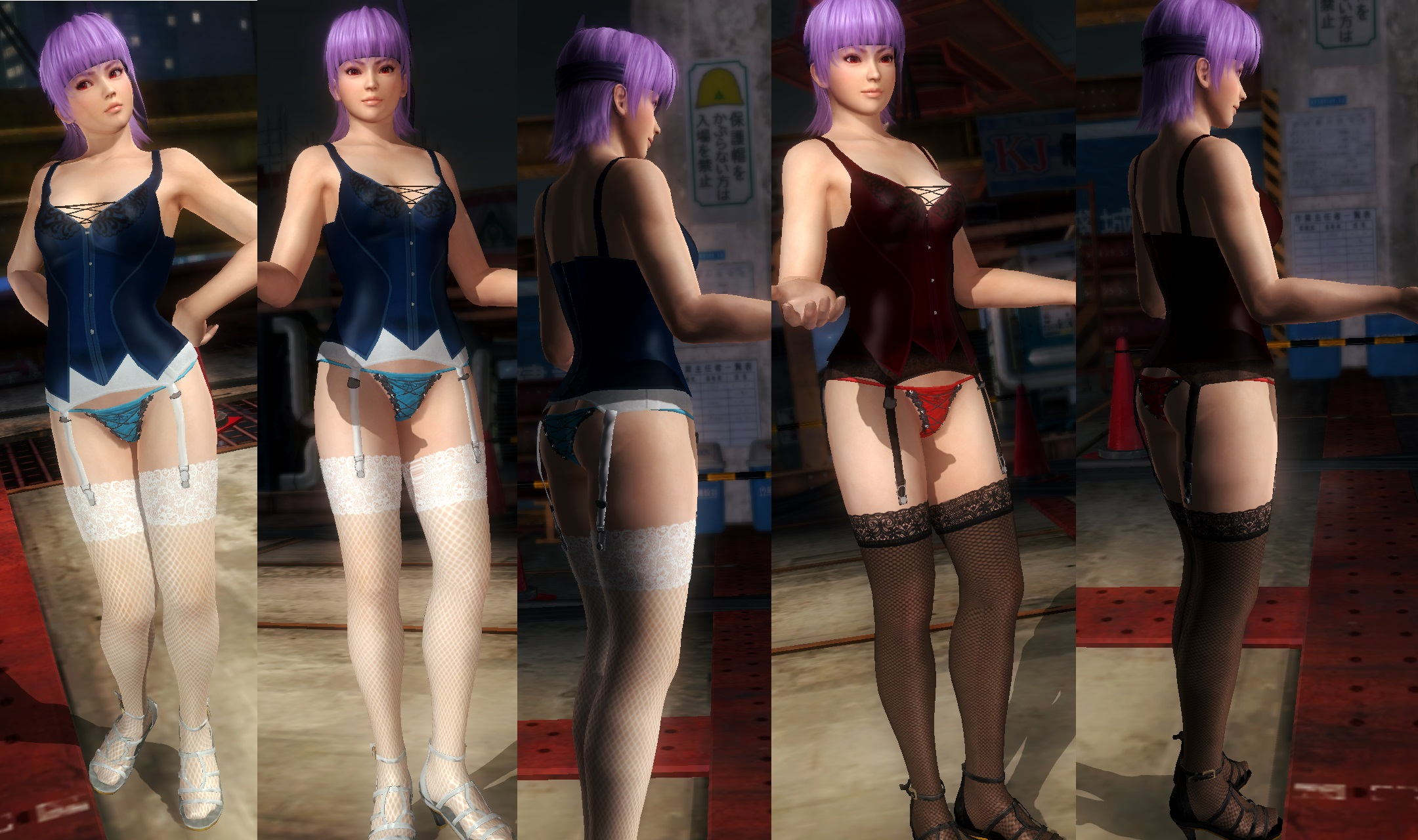 Ayane red and blue corset by funnybunny666