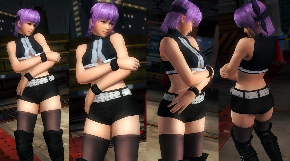 Ayane black hotpants by funnybunny666