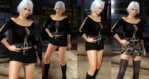 Christie black shirt skirt