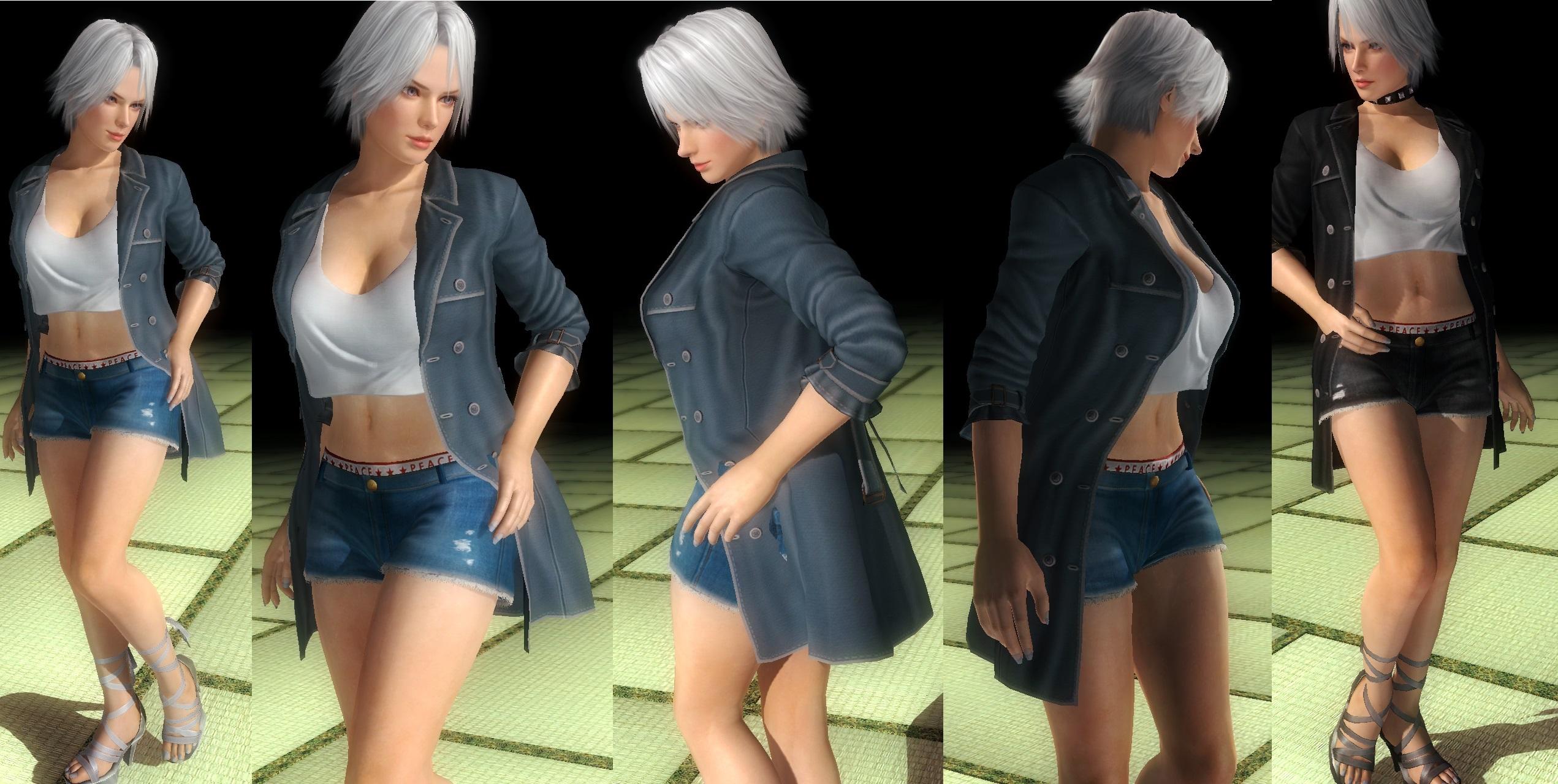 Christie denim shorts by funnybunny666