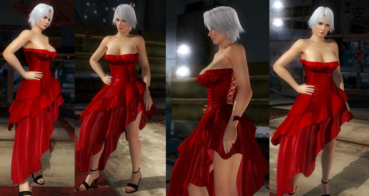 Christie red dress by funnybunny666