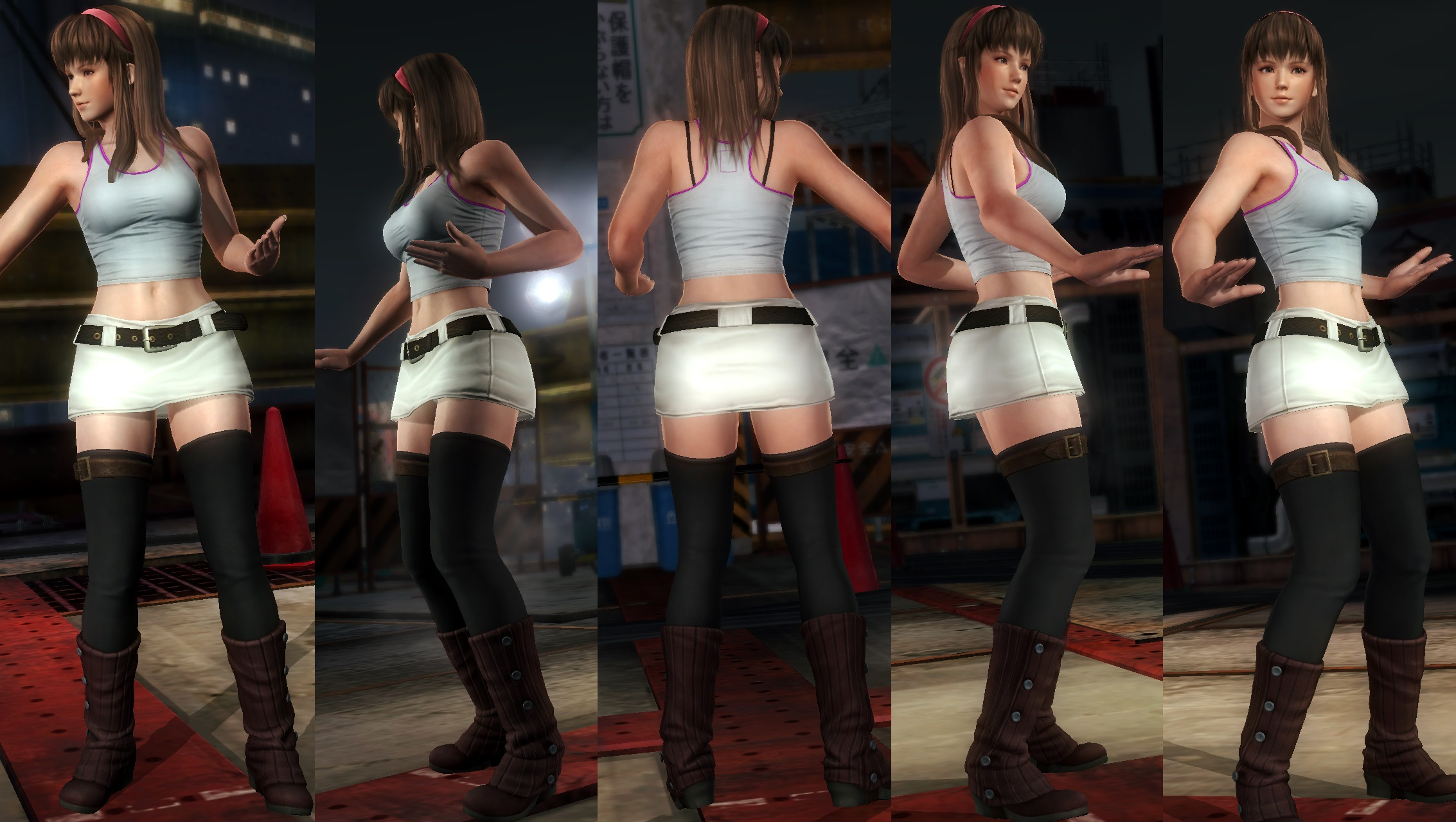 Hitomi white skirt by funnybunny666