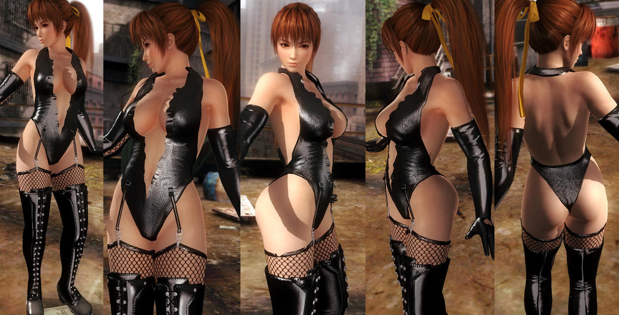 Kasumi Shiny Black Thigh Highs V1 by funnybunny666