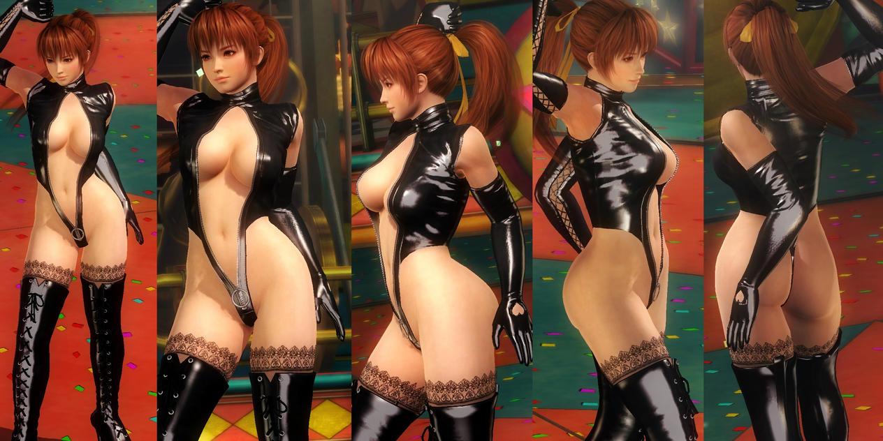Kasumi Shiny Black Thigh Highs V2 by funnybunny666