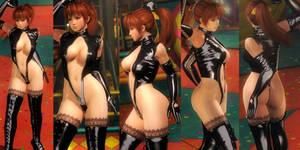 Kasumi Shiny Black Thigh Highs V2