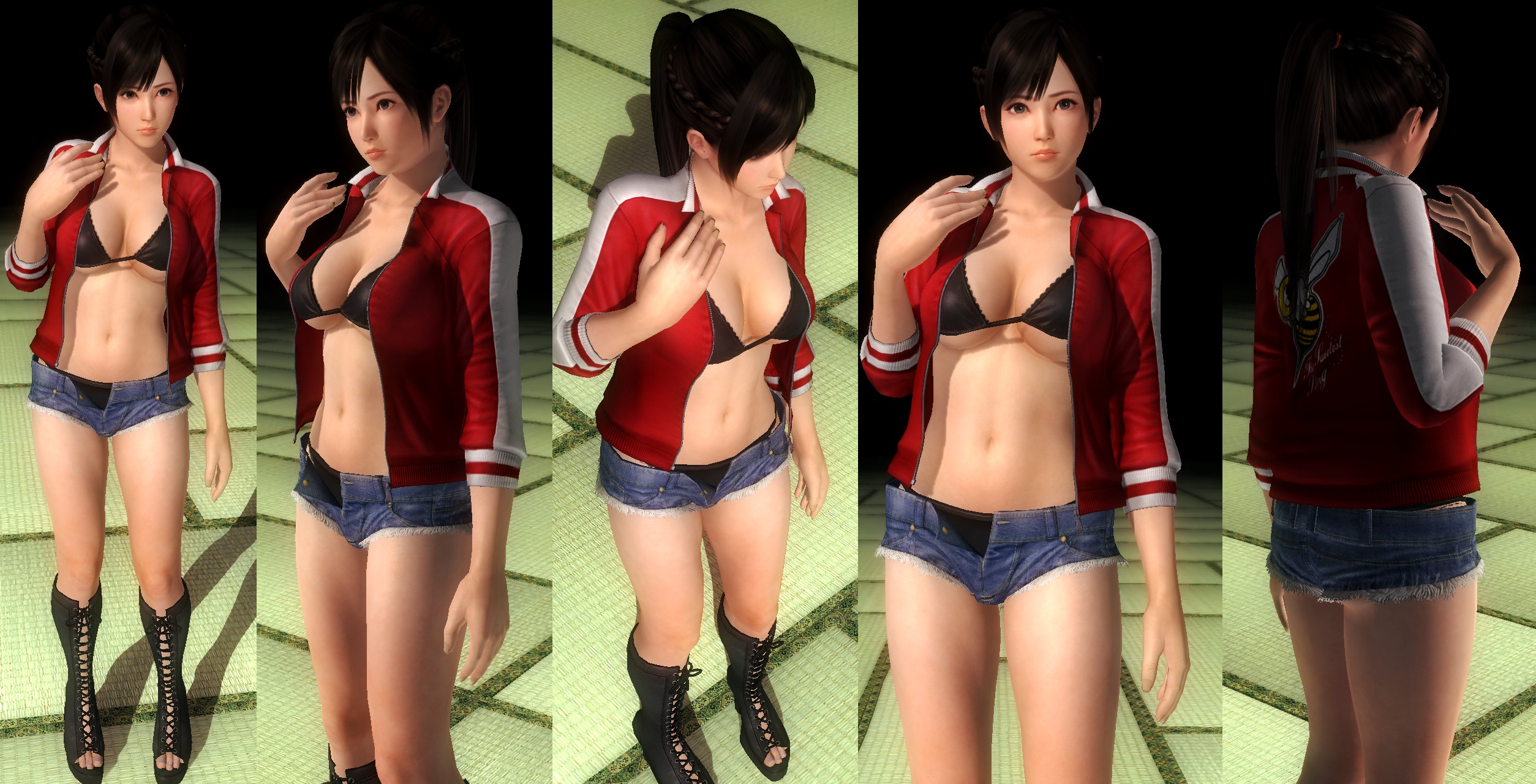 Kokoro jacket denim shorts by funnybunny666