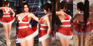 Mai red seethough dress