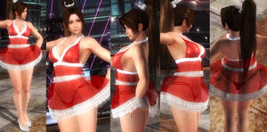 Mai red seethough dress by funnybunny666