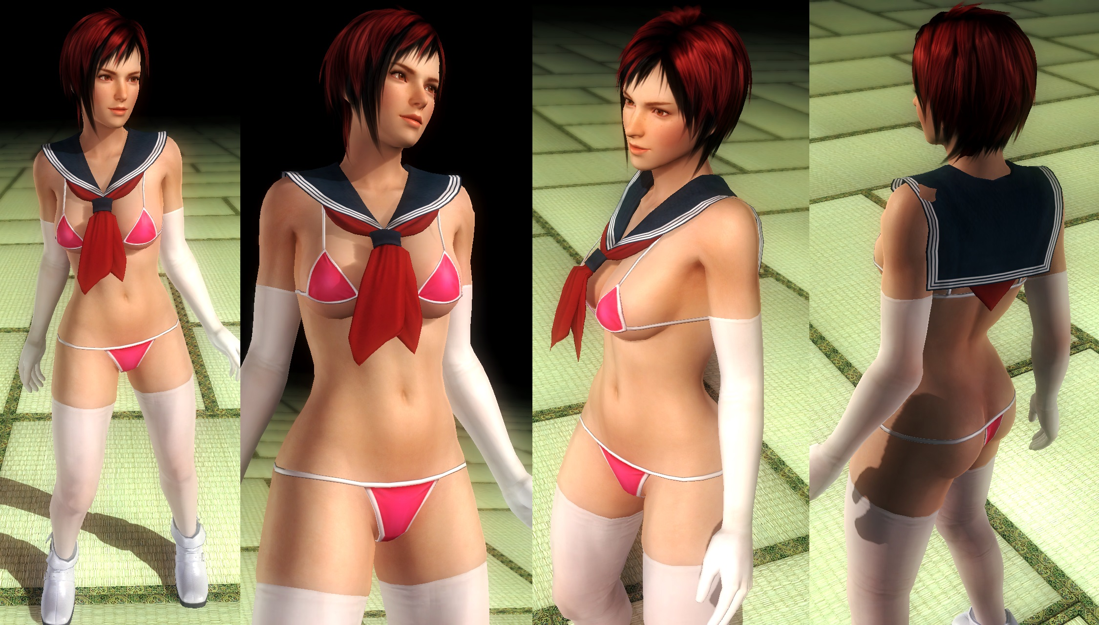Mila bikini school by funnybunny666