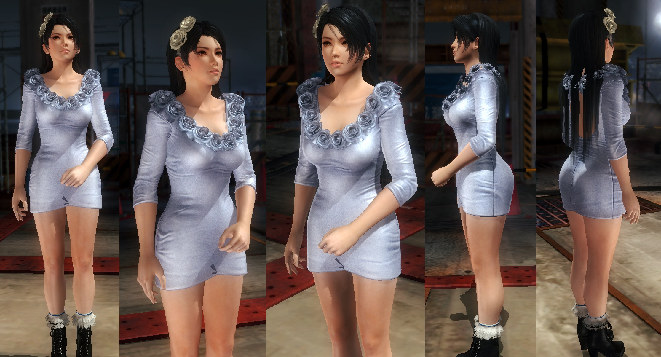 Momiji blue dress by funnybunny666
