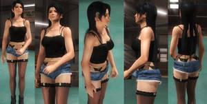 Momiji denim shorts by funnybunny666