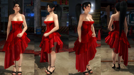 Momiji red dress