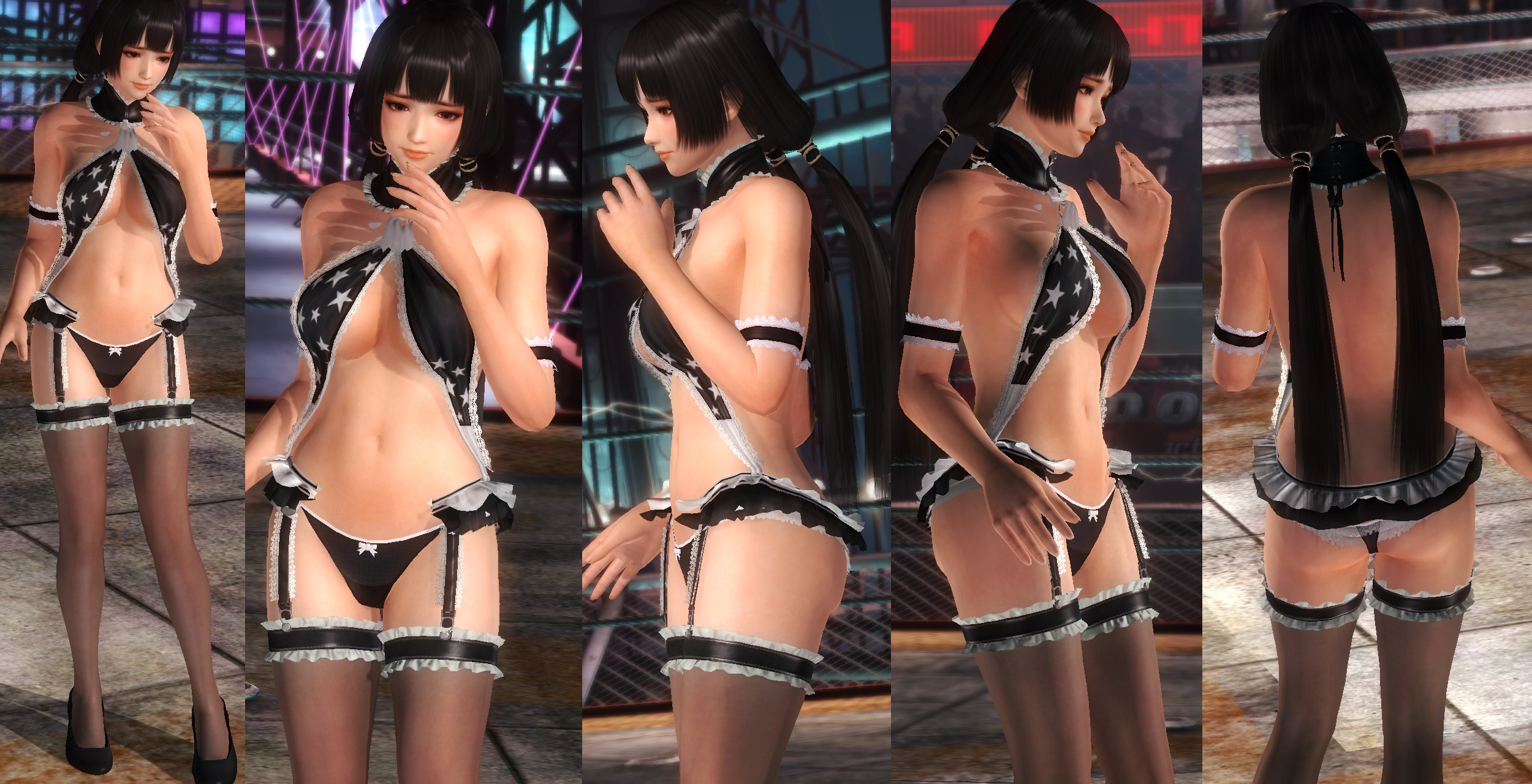 Naotora black/white lace V2 by funnybunny666