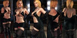 Tina black mantle skirt V2
