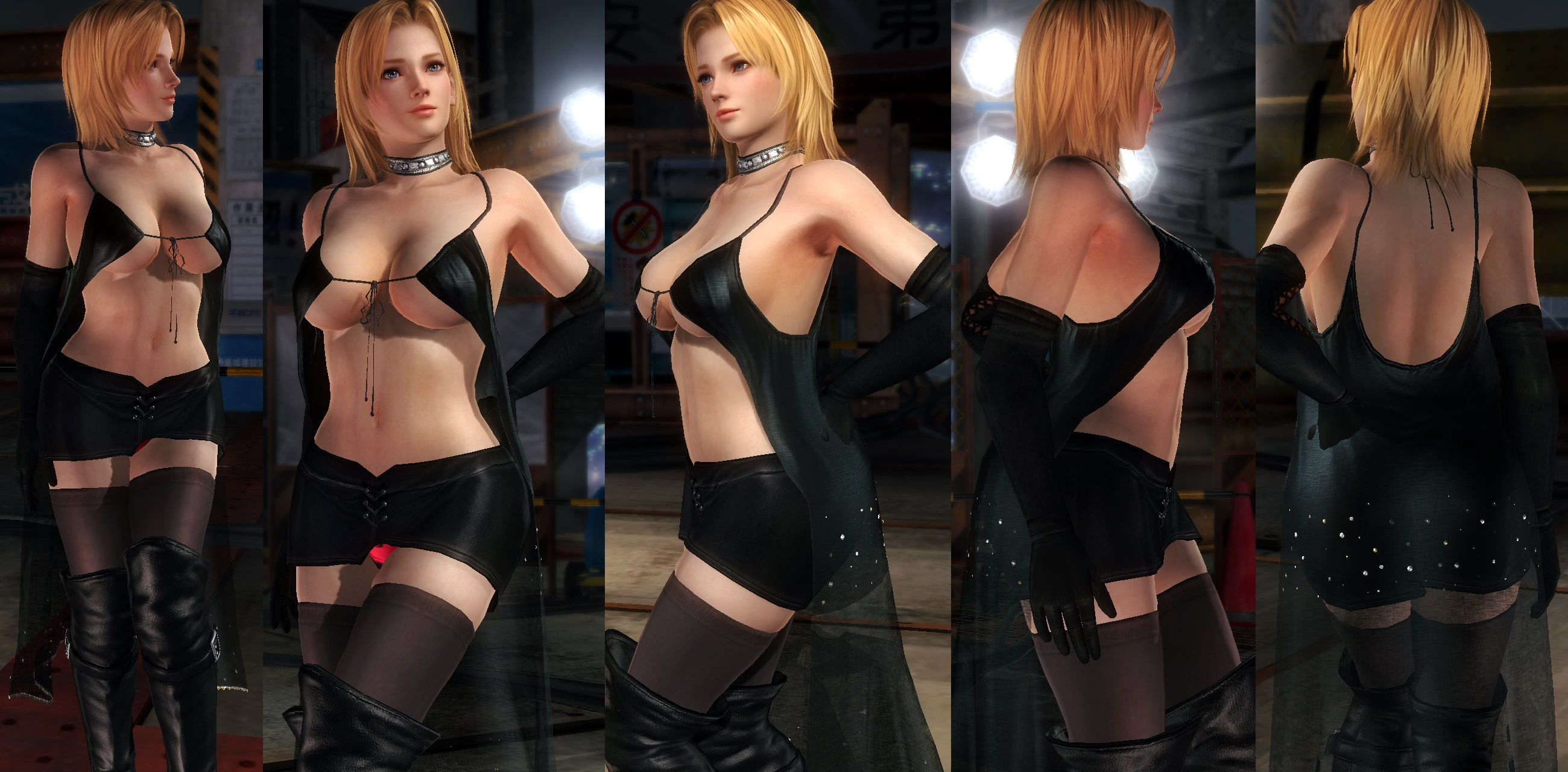 Tina black mantle skirt V2 by funnybunny666