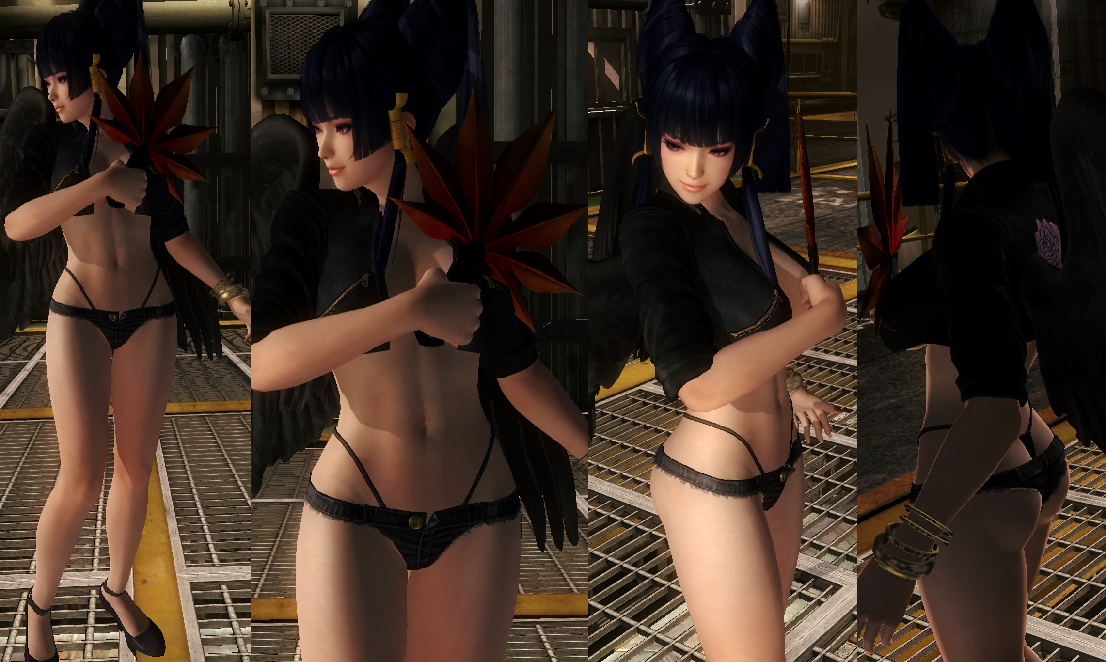 Nyotengu Jacket Hotpants by funnybunny666