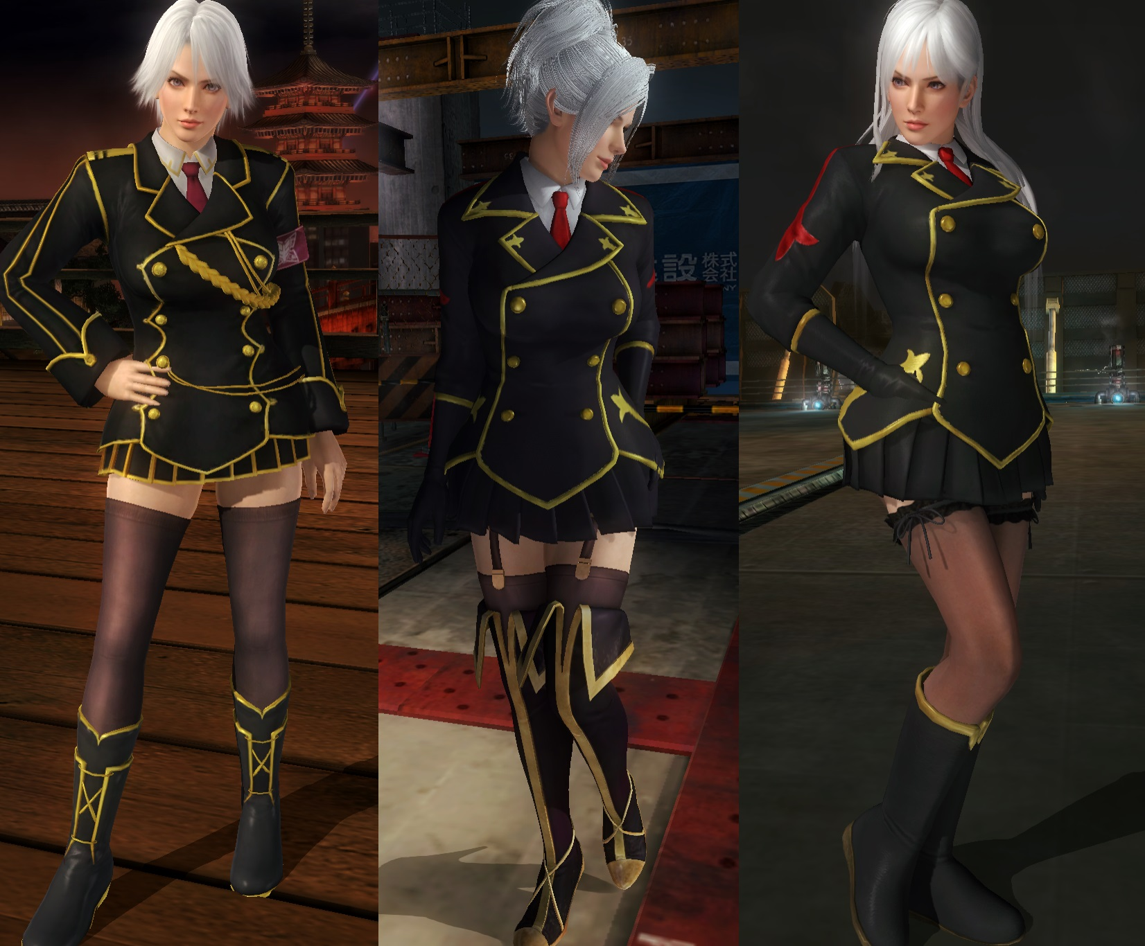 Christie Uniform 3 variations by funnybunny666