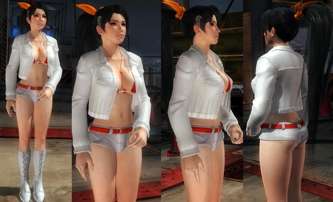 Momiji White Jacket Hotpants by funnybunny666