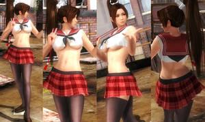 Mai Schoolgirl Red Uniform by funnybunny666