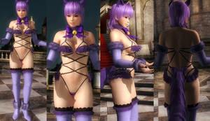 Ayane Purple Fur Tail
