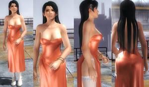 Momiji Orange Dress by funnybunny666