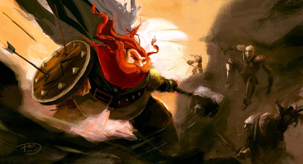 Dwarf Vs Goblins by FredRubim