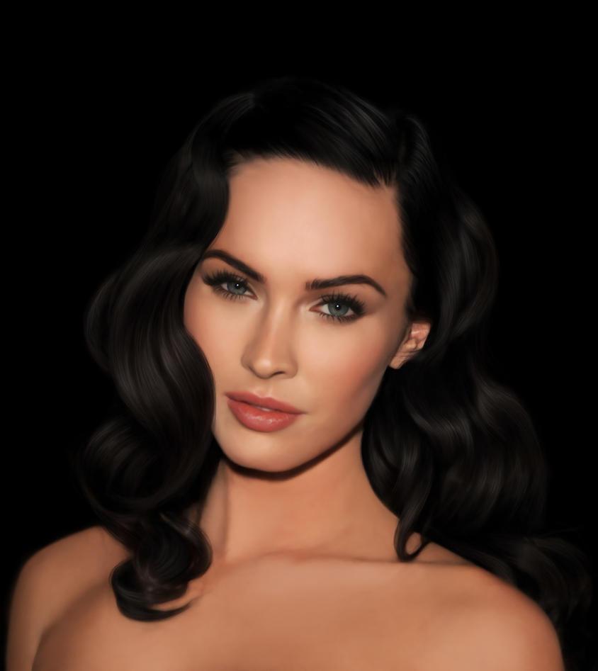 Megan Fox Digital Portrait by vannenov on DeviantArt