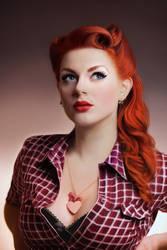 Greta Macabre Digital Portrait by vannenov