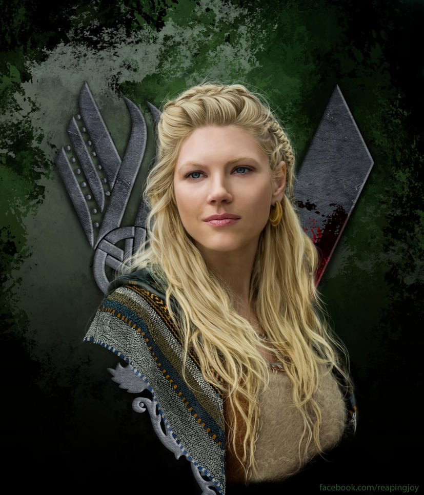 Lagertha - Digital Portrait by vannenov