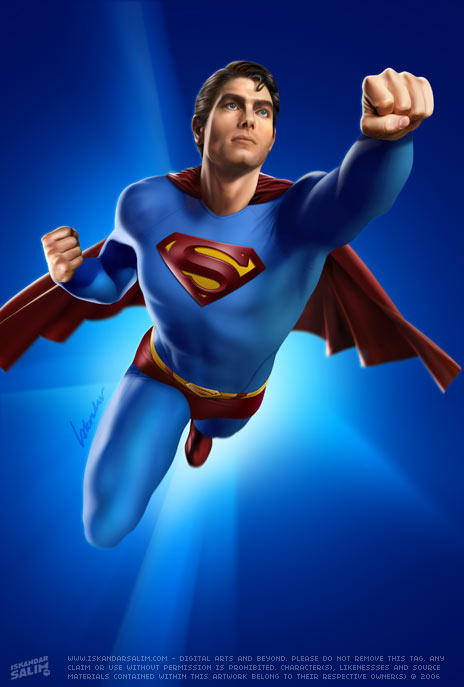 Here Comes Superman by iskandarsalim on DeviantArt