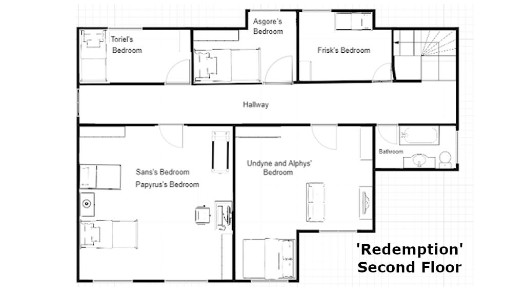 Redemption Farmhouse, Second Floor by Zeragii