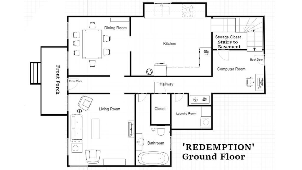 Redemption Farmhouse, First Floor by Zeragii