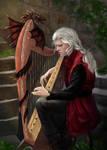 Rhaegar Targaryen Playing The Harp