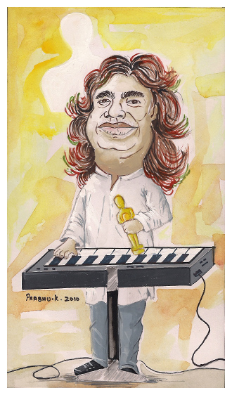 Caricature-A.R. Rahman by kp1986