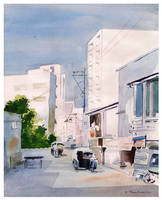 WaterColor Study - City by kp1986