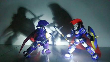 [LBX] Dark Knight Achilles VS Achilles by summail