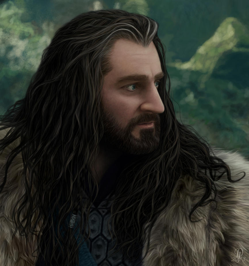 dibujos - el Hobbit  impresionantes dibujos Thorin_oakenshield___imminent_attack__detail__by_darkjackal32-d64j43d