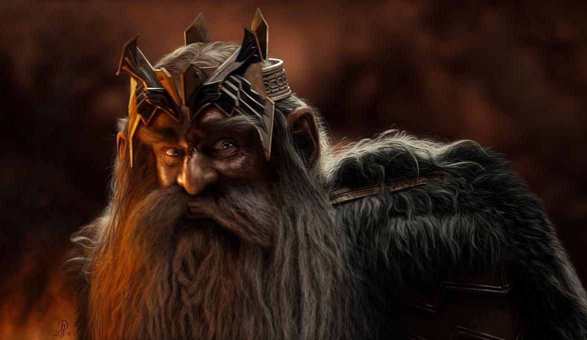 dibujos - el Hobbit  impresionantes dibujos King_thror___final_stand_by_darkjackal32-d79lhjf