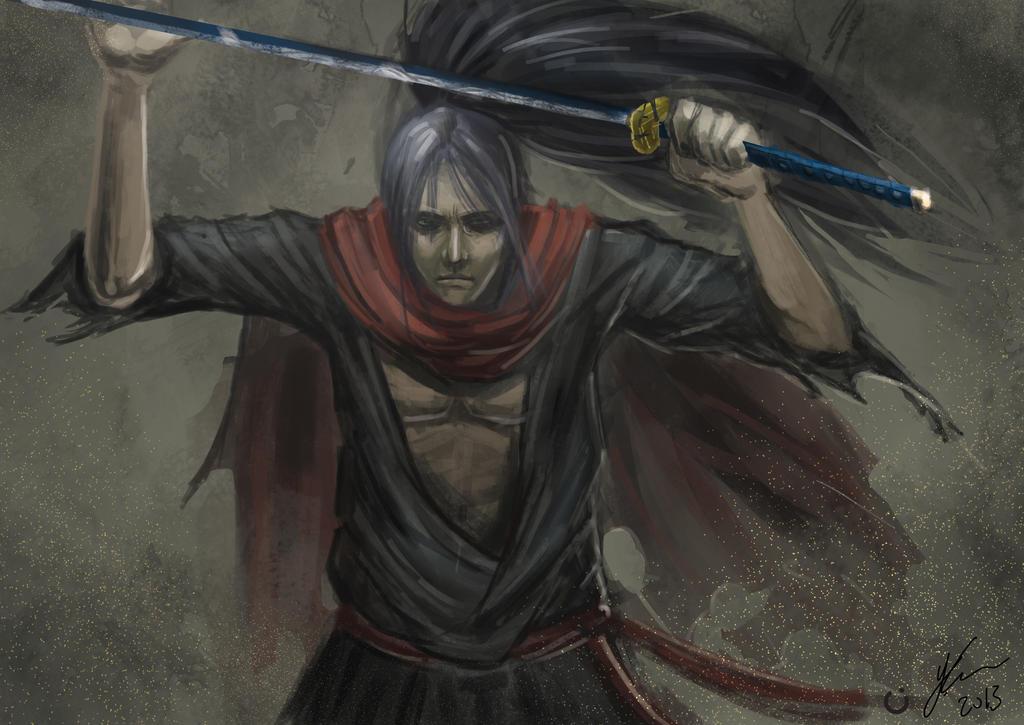 First Deviation! Speedpaint : Defensive ronin?
