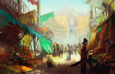 The City of Salt in Wounds: Bazaar by jeffchendesigns