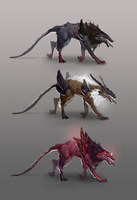 Alien Dog Creature Concept by jeffchendesigns