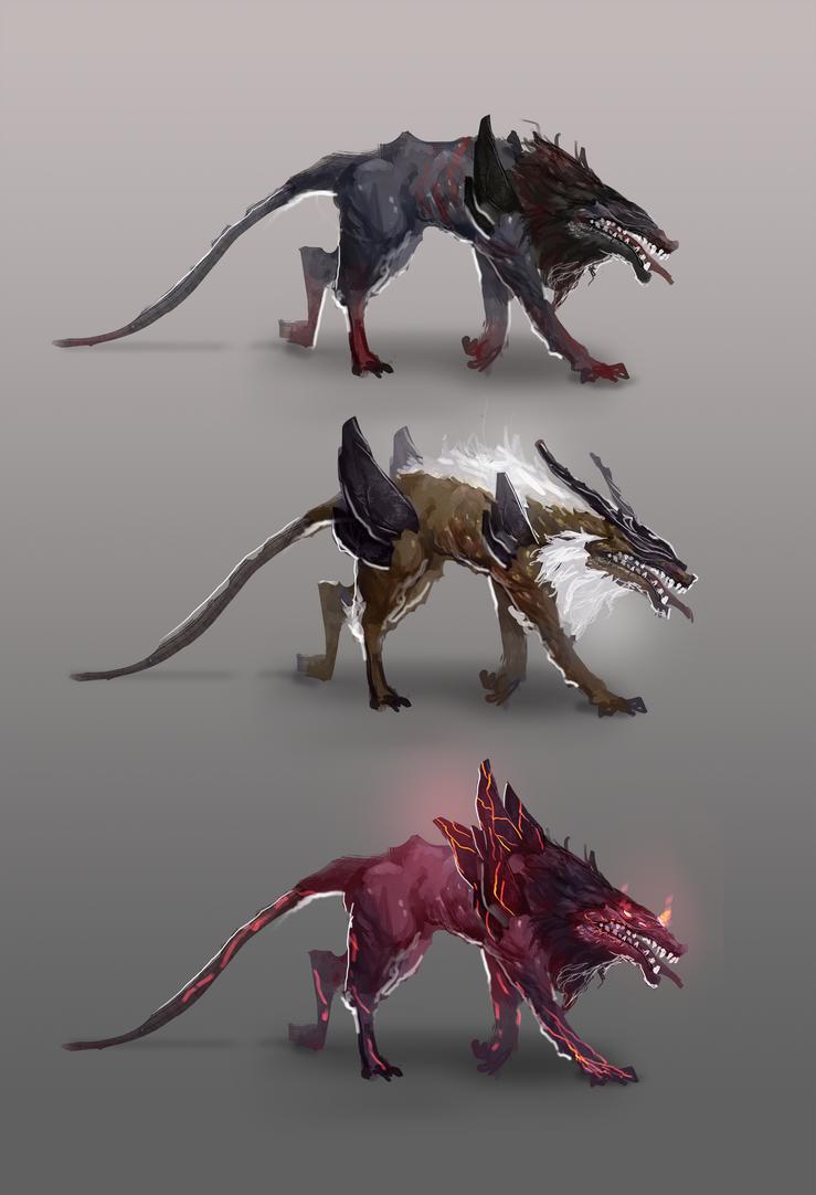 Alien Dog Creature Concept By Jeffchendesigns On DeviantArt
