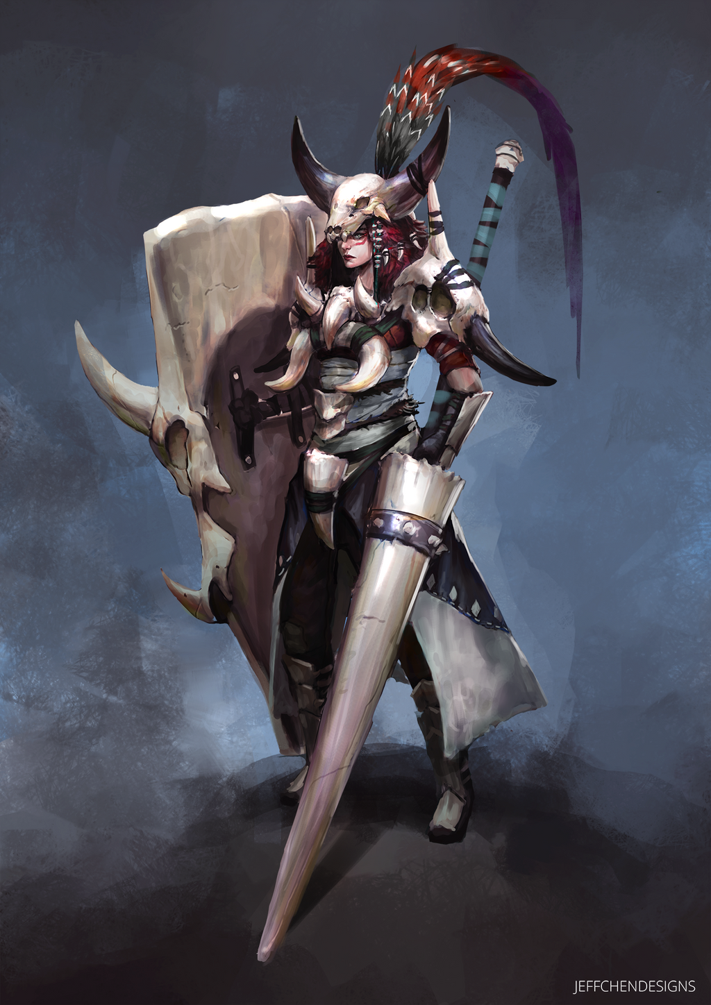 Soul Wrought Registration Bone_armor_character_concept_by_jeffchendesigns-daqshfu