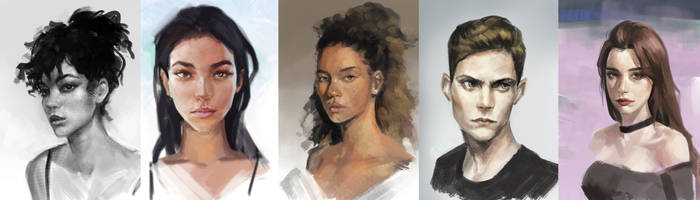 portraits practice by jeffchendesigns