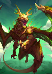 Hearthstone inspired Nature Dragon