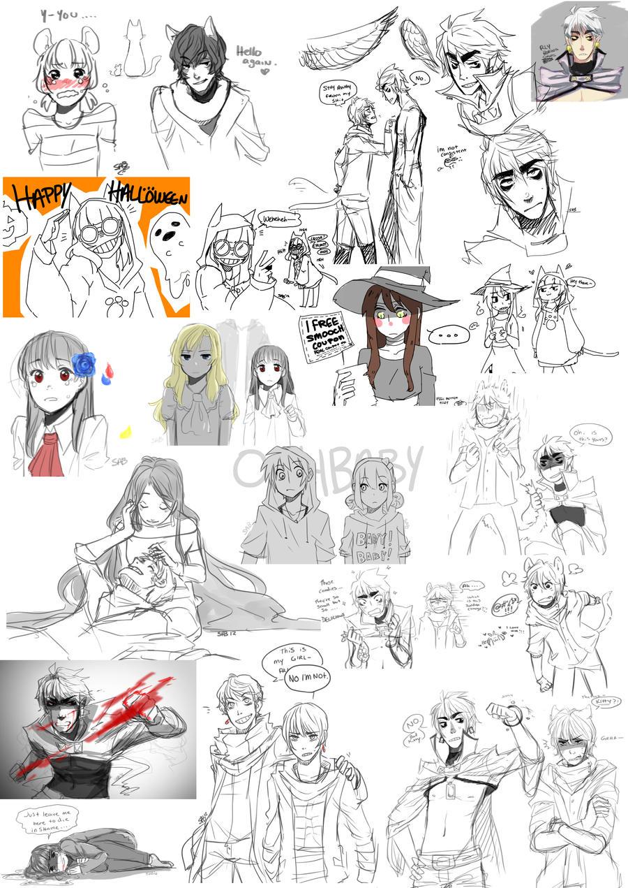 Oct. sketch dump by BunnyTheAssassin