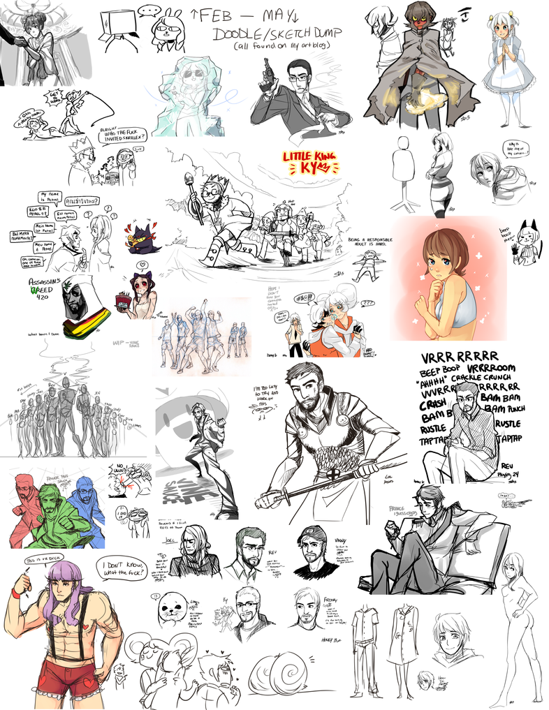 huge art dump Feb-May by BunnyTheAssassin